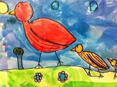 How to Draw a Bird - perfect for Kindergarteners