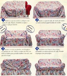 Diy Couch, Diy Furniture Couch, Furniture Covers, Sofa Arm Covers, Diy Sofa Cover, Drop Cloth Slipcover, Slipcovers For Chairs, Patio Chairs, Paint Upholstery