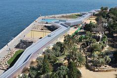 Vista aerea del lungomare e del Parque Genovés (foto di José Luis Bezos Alonso)