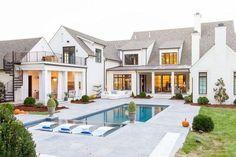 My dream home, dream homes, big houses exterior, exterior windows, drea Dream Home Design, My Dream Home, House Design, Dream Homes, Dream Mansion, Br House, Modern Farmhouse Exterior, Rustic Farmhouse, Modern Farmhouse Style