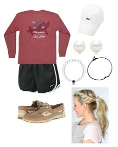 """Pep Rally♥️"" by sjkish on Polyvore featuring NIKE, Sperry Top-Sider, Tiffany & Co. and Everest"