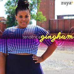 Quer conhecer uma tendência muito forte da primavera/verão 2015 antes de todo mundo? Visite nosso blog! #plussize #zuya #euzouzuya #gingham #curvygirl