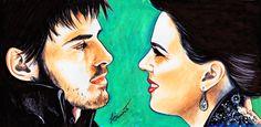 Hook and Regina by ZiaFranny
