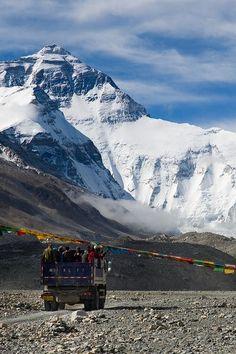 Road to Base Camp. Mt Everest. Tibet