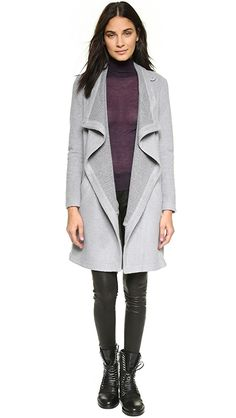 BB Dakota Grady Drape Front Coat | SHOPBOP
