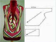 Выкройка блузки с открытой спиной...<3 Deniz <3
