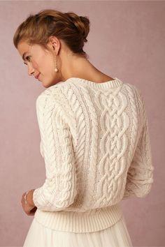 "Cashmere/Lamb's Wool/Cotton ""Danae Sweater"" by Banjo & Matilda for BHLDN>>>>"