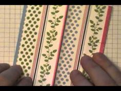 card making video tutorial:  Kimono Card w/Dawn O ... luv the options for the inside message ... Stampin' Up!