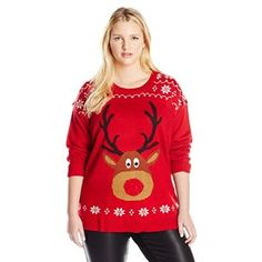 #Christmas Buy Blizzard Bay Women's Plus-Size Rudolph with LIGHT-UP Nose Ugly Christmas Sweater, Red, 1X for Christmas Gifts Idea Promotion . Holiday was created to get a fun filled period, a period of time wherever family members add up, a period of time regarding events, frivolity along with a lot of sequins. Aside from the twelve-monthly...
