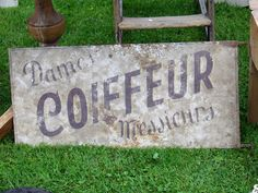 My French Country Home Brocante Coiffeur sign