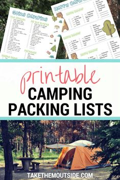 Get these printable camping packing lists for your next family car camping  trip | Read all