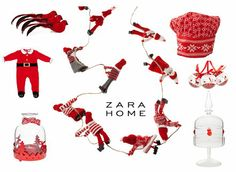 Zara Home Christmas Trends 2013 – Zara Home #Christmas decoration for the Living Room & Kitchen in Red & White!