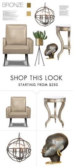 """bronze"" by senaa on Polyvore featuring interior, interiors, interior design, home, home decor, interior decorating, Jonathan Adler, Balmain and Tiffany & Co."