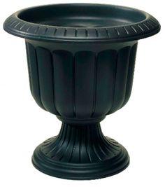 "(12) Novelty Mfg 38148 14"" Black Classic Porch Urn Plastic Planters on eBay!"
