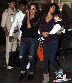 Stars Spotted 2015 -- Gauri Khan at Mumbai International Airport Mumbai Picture # 327537