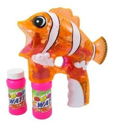 Lara Cartoon Fish Bubble Gun- Led Clownfish Bubble Blaster (Assorted Colors) Liberty Imports http://www.amazon.com/dp/B00596X9BC/ref=cm_sw_r_pi_dp_Bkswwb1X6PEKC