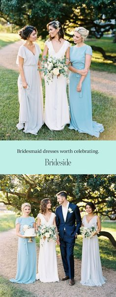 Celebrate the women in your life with Brideside. Make bridesmaid dresses the easiest part of wedding planning with our curated designer collections and complimentary help from our style consultants. Visit us in one of our showrooms or even try dresses on at home. Shopping for bridesmaid dresses has never been so easy! Get Started