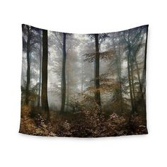 Brown Gray Iris Lehnhardt Forest Mystics Wall Tapestry (€40) ❤ liked on Polyvore featuring home, home decor, wall art, green, home wall decor, beach home accessories, beach home decor, beach wall art and mounted wall art