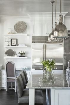 Design Chic....White and stainless kitchen