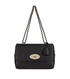 Mulberry's Medium Lily is an effortlessly elegant bag that lends itself well to day and evening wear due to its versatile size and shape. Designed in black glossy goat leather, it boasts an embossed grain appearance that will only improve with age. Soft gold-tone hardware, including the woven chain strap and postman's lock closure, perfectly completes this timeless accessory.