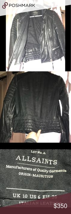 "All Saints ""papin"" moto leather jacket size 6 All Saints moto "" papin"" style leather jacket Stunning and in great condition!  This is a piece that will for sure get you noticed.  🖤😎💁🏼‍♀️ Might be willing to trade I'd like to upgrade my jacket.. All Saints Jackets & Coats"