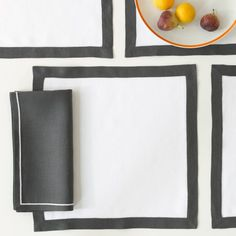 Matouk —Square Placemats - Casual Couture - Table