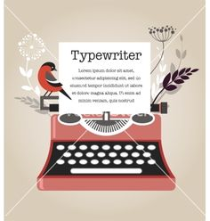 Vintage typewriter vector 1297768 - by ma_rish on VectorStock®