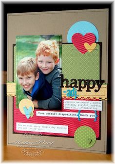 Stampin' Up!  Scrapbook Layout  Heather Klump