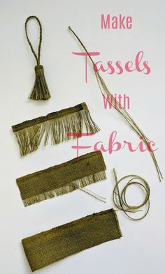 Use fabric to make tassels that match your projects. Get the exact matching or c… Use fabric to make tassels that match your projects. Get the exact matching or contrasting color tassels you need for your sewing projects. Diy Sewing Projects, Sewing Projects For Beginners, Sewing Hacks, Sewing Crafts, Diy Crafts, Sewing Tips, Sewing Tutorials, Sewing Patterns Free, Free Sewing