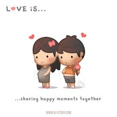 Quotes About Love For Him : QUOTATION - Image : As the quote says - Description HJ-Story :: Love is… sharing happy moments together! Hj Story, Love Cartoon Couple, Cute Couple Comics, Cute Comics, Cute Love Stories, Love Story, Baby Quotes, Love Quotes, True Love