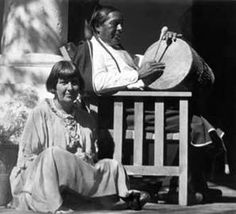 Mabel Dodge Luhan and Tony Luhan... Picture from Austin's Earth Horizon