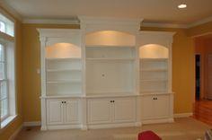 Custom Wall Unit Bookcases - Artisan Custom Bookcases