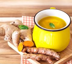Benefits of turmeric ginger tea include regulating diabetes, soothing pain, strengthening immunity, increasing cognition, countering depression & improving skin health. Ginger Benefits, Tea Benefits, Health Benefits, Superfood, Natural Remedies For Gout, How To Cure Gout, Diabetes, Turmeric Tea, Turmeric Health