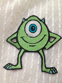Mike W Monsters Inc Iron on  Patch by Sewpplies on Etsy, $7.00
