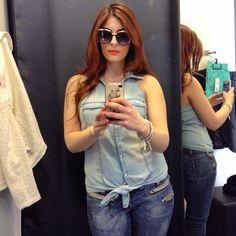 Selfie di Laura Manfredi (Rock 'n' Mode) con un outfit KIABI