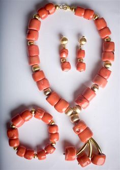 Lan's Accessories Coral Beaded Jewellery by Lan's Accessories, via Flickr