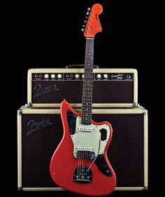 1962 Fiesta Red Fender Jaguar  Sava via Nicole LaFond onto (How do you afford your) Rock'n'roll life style....