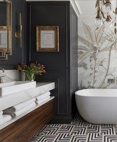 Bathroom Design Inspiration, Bathroom Interior Design, Home Decor Inspiration, Interior Decorating, Dream Bathrooms, Beautiful Bathrooms, Laundry In Bathroom, Small Bathroom, Home Luxury