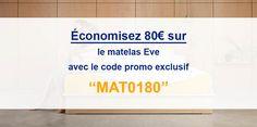 Économisez 80€ sur le matelas #Eve grâce à notre code promo exclusif ! #codepromo #réduction #bonplan #EveMatelas #matelas #LeMeilleurMatelas 🏷️🎉