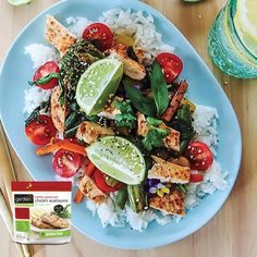 This vibrant veggie & chick'n scallopini stir fry  is gluten-free! Looks DELISH! #instachef #stirfry. For more inspiration go to http://gardein.me/quickmeals