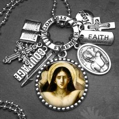 Athletes Patron Saint Sebastian Picture Pendant by St Sebastian, Catholic Jewelry, Confirmation Gifts, Jewelry Gifts, Unique Jewelry, Patron Saints, Athletes, Faith, Charmed