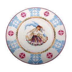 Dekoratīvs porcelāna šķīvis Laika periods 20. gs. 30. g. Rūpnīca Jessen Rīga porcelāna fabrika, Latvija