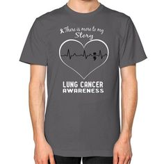 Lung cancer awareness Unisex T-Shirt (on man)