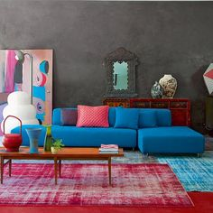 Red and grey, always inspire me. But wow, toss in a strong blue...bam!