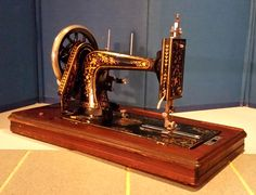 Early Viking Sewing Machine- Freja Hand Crank-see all the awesome restored sewing machines at http://stagecoachroadsewing.com