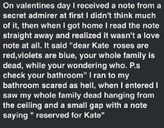 Creepypasta picture-story #84: Kate - Horror/creepy short stories