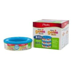 Playtex Diaper Genie Refill (810 Count Total – 3 Pack of 270 Each) - Click image twice for more info - See a larger selection of  Baby Diaper pails and refils  at  http://zbabybaby.com/category/baby-categories/baby-diapering/baby-diaper-pails-and-refills/  - gift ideas, baby , baby shower gift ideas, kids     « zBabyBaby.com