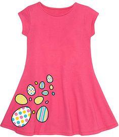 37a66685c Raspberry Easter Eggs Side Hit Fit & Flare Dress - Toddler & Girls #dress  #easteregg #girlsfashion #easter #afflink