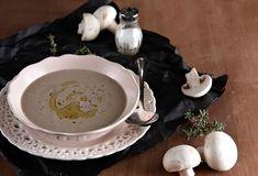 Mushroom soup with chestnuts - www. Mushroom Soup, Lemon Grass, Stuffed Mushrooms, Food And Drink, Tasty, Cooking, Tableware, Recipes, Christmas