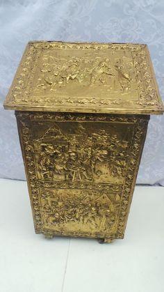 Metals, Decorative Boxes, Brass, Antiques, Vintage, Antiquities, Antique, Vintage Comics, Decorative Storage Boxes